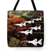 Sedona Thunderbirds Tote Bag by Benjamin Yeager