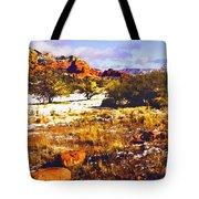 Sedona Winter Painting Tote Bag