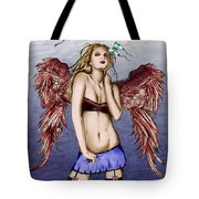 Seductive Angel Colored Tote Bag