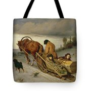 Seeing Off The Dead, 1865 Oil On Canvas Tote Bag