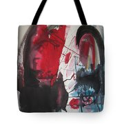 Seem To Happen Suddenly  Original Abstract Colorful Landscape Painting For Sale Red Blue Green Tote Bag