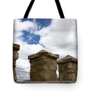 Segovia Wall Against Blue Sky Tote Bag