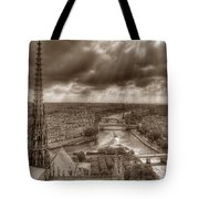 Seine From Notre Dame Tote Bag