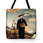 Self Portrait Tote Bag by Henri Rousseau