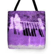 Self Portrait In Lavender Looking Down Over The Rails Tote Bag