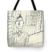 Self-portrait In Ny Tote Bag