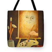 Self-portrait In Progress Tote Bag