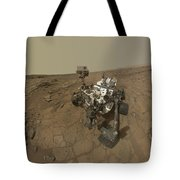 Self-portrait Of Curiosity Rover Tote Bag