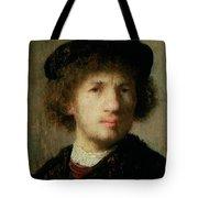 Self Portrait Tote Bag by Rembrandt Harmenszoon van Rijn