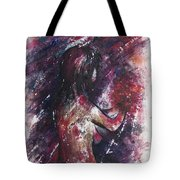Self Portrait With Flowers Tote Bag