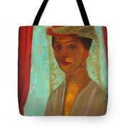 Self Portrait With Hat And Veil Tote Bag