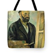 Self Portrait With Palette Tote Bag
