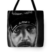 Self Portrait With Us Army Retired Cap Tote Bag
