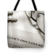 Seller Property Disclosure Tote Bag
