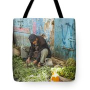 Selling Herbs In The Souk Tote Bag