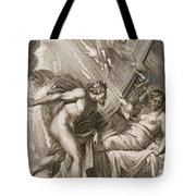 Semele Is Consumed By Jupiters Fire Tote Bag by Bernard Picart