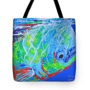 semi abstract Mahi mahi Tote Bag
