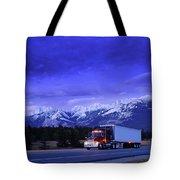 Semi-trailer Truck Tote Bag