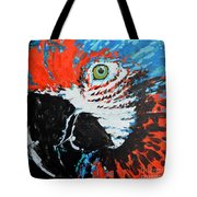 Semiabstract Parrot Tote Bag