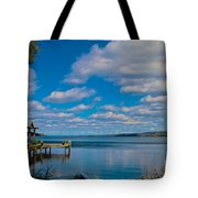 Seneca Lake At Glenora Point Tote Bag