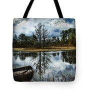Seney And The Rowboat Tote Bag