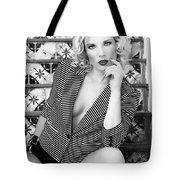 Sensational Stripes Bw Fashion Tote Bag