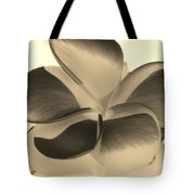 Sepia Bloom Negative Tote Bag