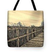 Sepia Boardwalk Tote Bag