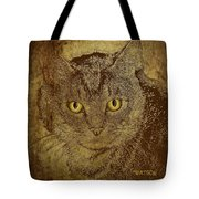 Sepia Cat Tote Bag