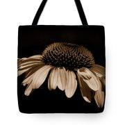 Sepia Daisy Tote Bag