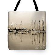 Sepia Harbor Tote Bag