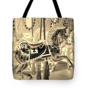 Sepia Horse Tote Bag
