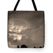 Sepia Light Show Tote Bag