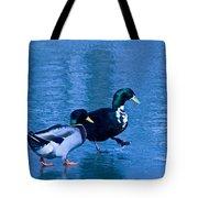 Sepia Mallard Friends Tote Bag