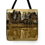 Sepia Reflection Tote Bag