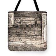 Sepia Rustic Old Colorado Barn Door And Window Tote Bag by James BO  Insogna