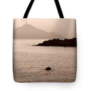 Sepia Seascape Tote Bag