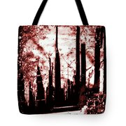 Sepia Skyline Tote Bag