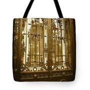 Sepia Spanish Door Tote Bag