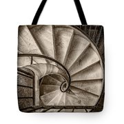 Sepia Spiral Staircase Tote Bag