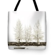 Sepia Square Diptych Tree 12-7693 Set 1 Of 2 Tote Bag