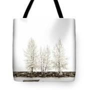 Sepia Square Tree Tote Bag