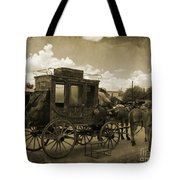 Sepia Stagecoach Tote Bag