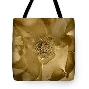 Sepia Toned Rose Close Up Tote Bag