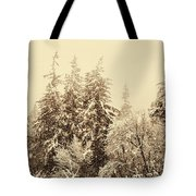 Sepia Winter Landscape Tote Bag