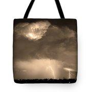 Sepiathunderstorm Boulder County Colorado   Tote Bag