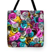 Sequins Abstract Tote Bag