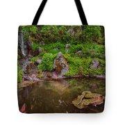 Serene Garden Pond Tote Bag