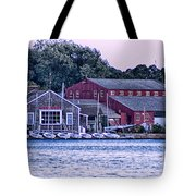 Serene Seaport Tote Bag