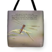 Serenity Courage And Wisdom Tote Bag